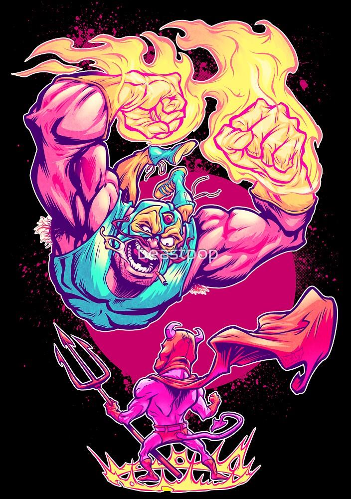 LUCHADORO VS. EL DIABLO by beastpop