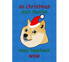 So Christmas - Doge Photographic Print