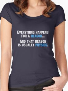 Physics is the Reason Women's Fitted Scoop T-Shirt