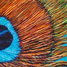 detail of a feather by Gabrielle Agius