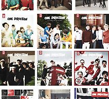 One Direction Album Covers Poster by Kydan315