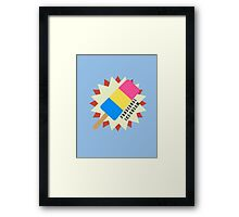Pansexual Popsicle Framed Print