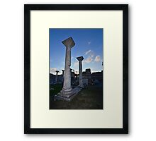 Sun set on Byzantine marble columns Framed Print