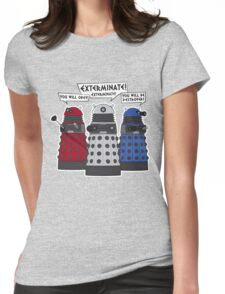 Exterminate! Womens Fitted T-Shirt