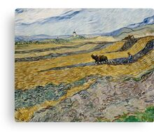 Vincent Van Gogh  - Enclosed Field with Ploughman, 1889 Canvas Print