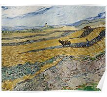 Vincent Van Gogh  - Enclosed Field with Ploughman, 1889 Poster