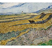 Vincent Van Gogh  - Enclosed Field with Ploughman, 1889 Photographic Print