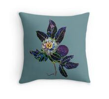 Passion Flower Left Throw Pillow