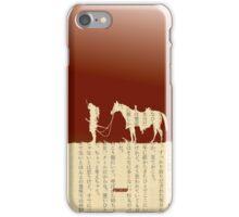 Samurai With Horse iPhone Case/Skin