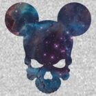 Mickey galactic skull by McDraw
