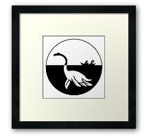 Nessy (Loch Ness Monster) Logo Framed Print