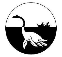 Nessy (Loch Ness Monster) Logo Photographic Print