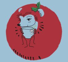Holly Jolly Hedgehog Kids Tee