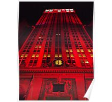 Holiday Lights, Helmsley Building, New York City  Poster