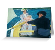 Mary Cassat - The Boating Party Greeting Card