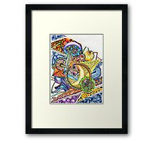 Coloured Zoodle Framed Print