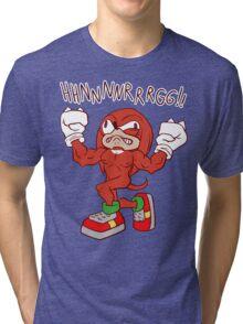 FIGHTING FREAK KNUCKLES Tri-blend T-Shirt