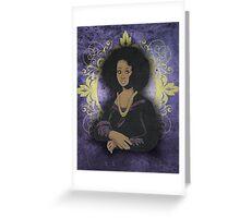 African Mona Lisa Greeting Card