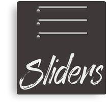 Sliders Canvas Print