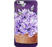 Basket With Purple Flowers iPhone Case/Skin