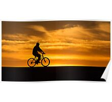 Silhouetted wheels Poster