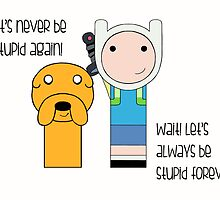 Finn and Jake Stupid Forever by mimiboo