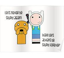 Finn and Jake Stupid Forever Poster