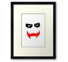 The Joker (Dark Night) Framed Print