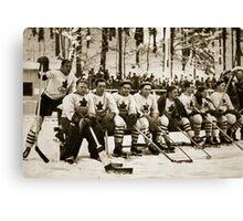 The Canadian Ice-Hockey Team Canvas Print