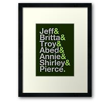 Community Jetset Framed Print