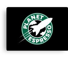 Planet Espresso Canvas Print