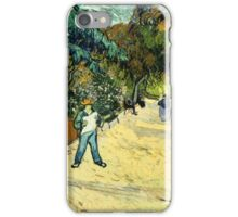 Vincent Van Gogh  - Entrance to the Public Gardens in Arle, 1888 iPhone Case/Skin