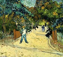 Vincent Van Gogh  - Entrance to the Public Gardens in Arle, 1888 by famousartworks