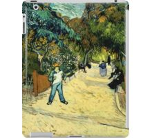 Vincent Van Gogh  - Entrance to the Public Gardens in Arle, 1888 iPad Case/Skin