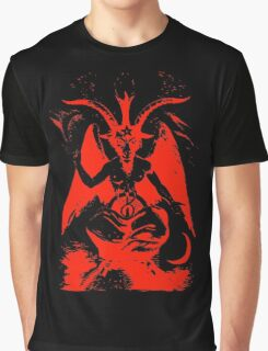 Red Baphomet Graphic T-Shirt
