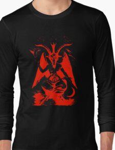 Red Baphomet Long Sleeve T-Shirt