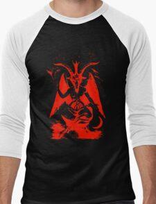 Red Baphomet Men's Baseball ¾ T-Shirt