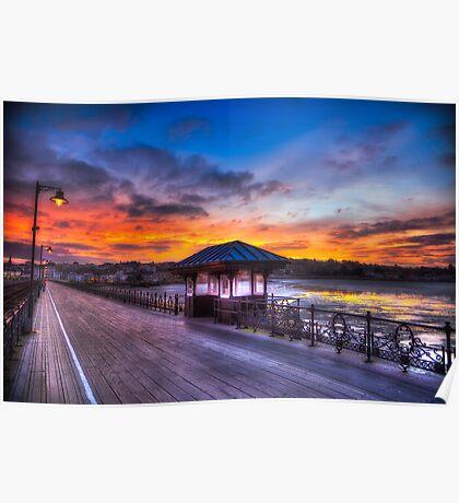 Ryde Pier Sunset Poster