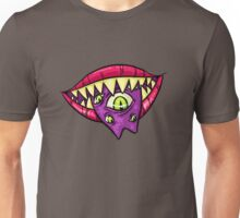 MONSTROUS MOUTH (green eyes) Unisex T-Shirt