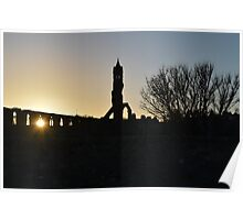 Autumn Sunset over St Andrews Cathedral Poster