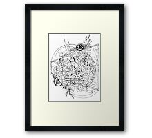 Abstract Zoodle Circles Framed Print