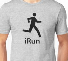 iRUN black Unisex T-Shirt