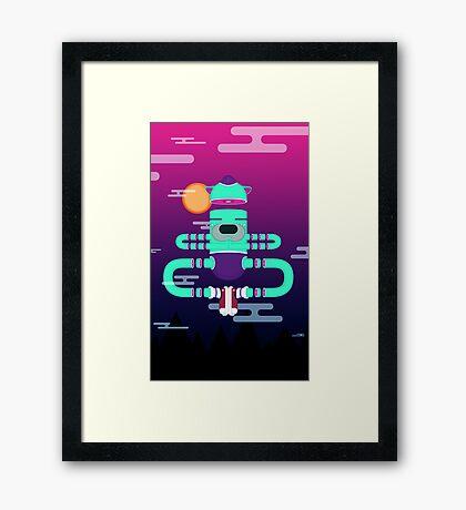 YOGA style Framed Print