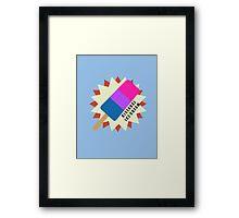 Bisexual Popsicle Framed Print