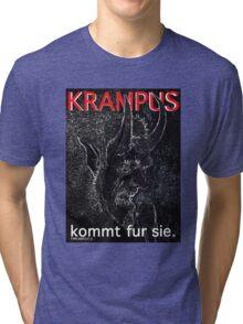 Krampus kommt fur sie. Tri-blend T-Shirt