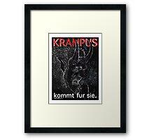Krampus kommt fur sie. Framed Print