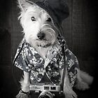 Vacation Dog with camera and Hawaiian shirt by Edward Fielding