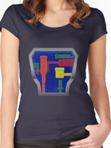 B.A.T.S. Variant 3.0 lower on chest Women's Fitted Scoop T-Shirt
