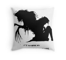 Where my demons hide Throw Pillow