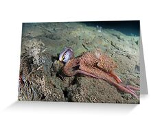 Octopus with a Sarcastic Fringe Head Greeting Card